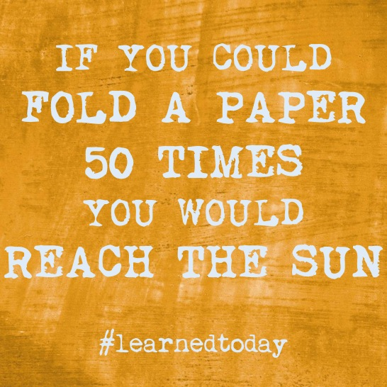 Fold a paper 50 times