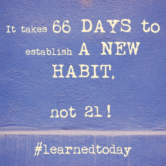 66 Days for a new habit