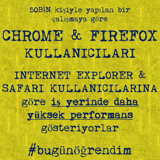 Chrome ve Firefox Kullanıcıları