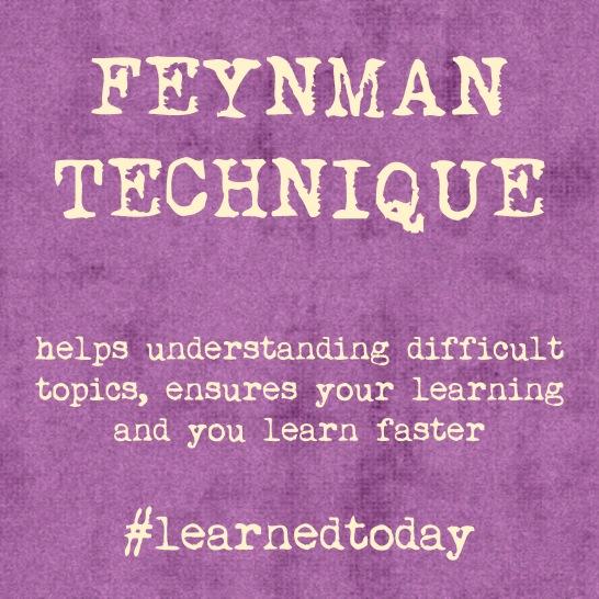 Feyman Technique