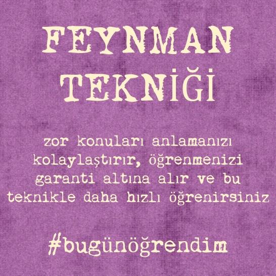 Feynman Tekniği