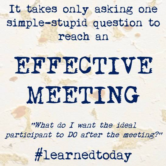 Effective Meeting