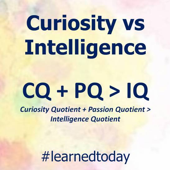 Curiosity vs Intelligence